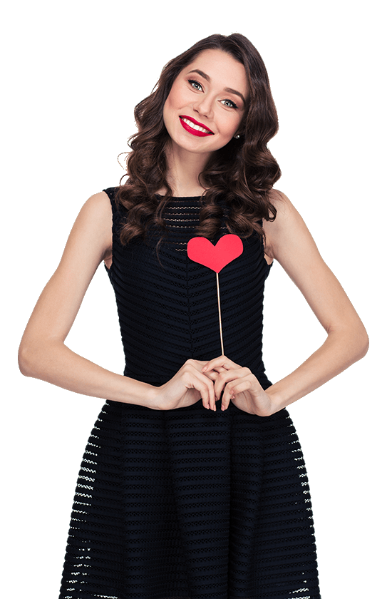 photo booth business case study picture of girl with heart