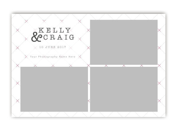 Checkered Photo Booth Template 6x4 Style 6