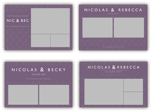 leaf purple photo booth templates