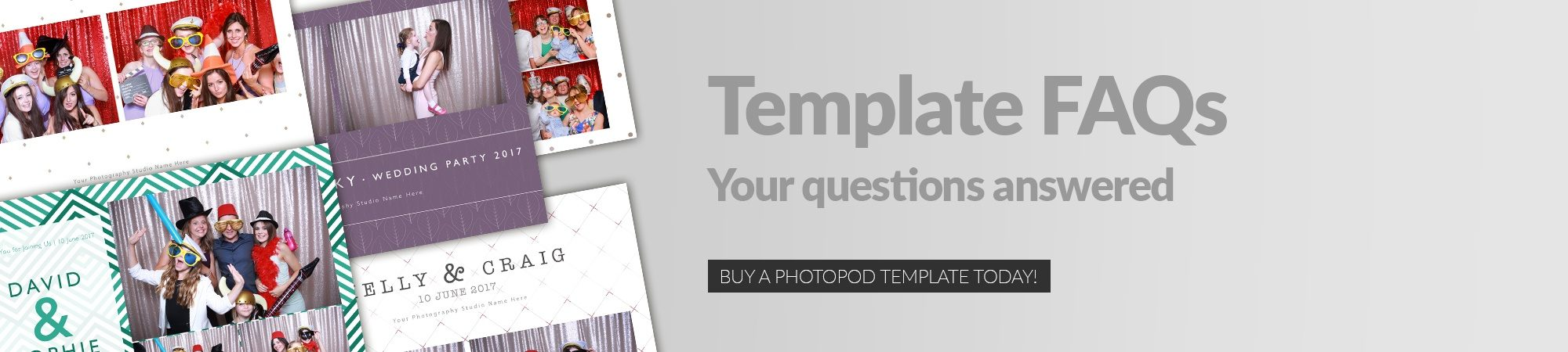 photo booth template banner image click to buy templates today