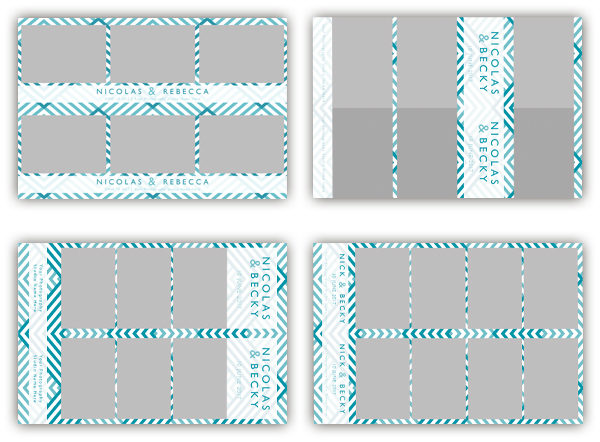 photo booth template zigzag blue