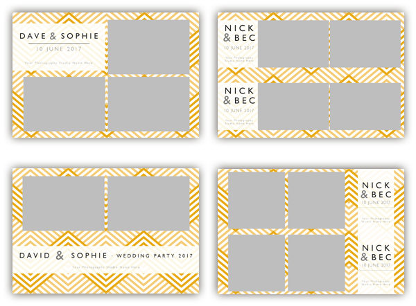photo booth template zigzag yellow